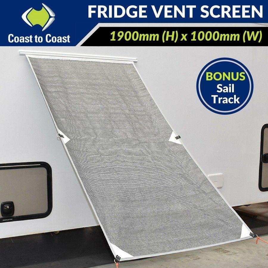 Coast Fridge Vent Screen With Sail Track For Caravan